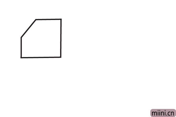 1.先画出货车驾驶室。