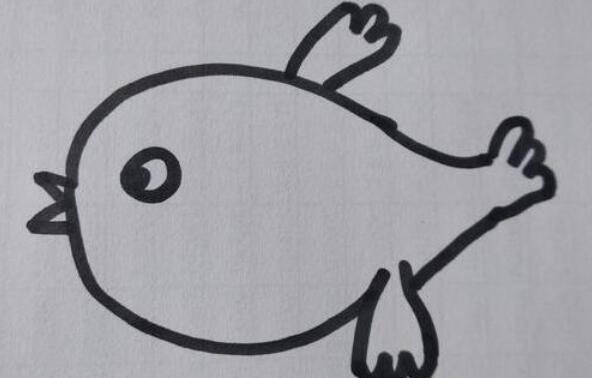很可爱的很简单的小鸟绘画步骤教程