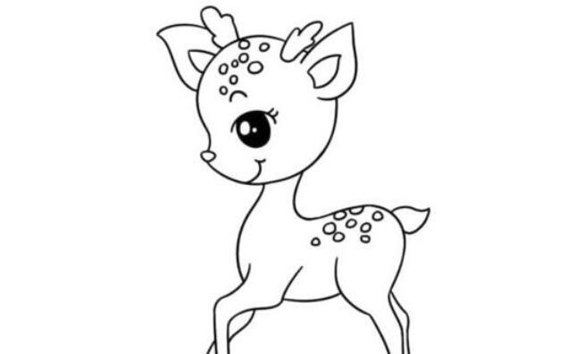 非常可爱的梅花鹿简笔画步骤教程