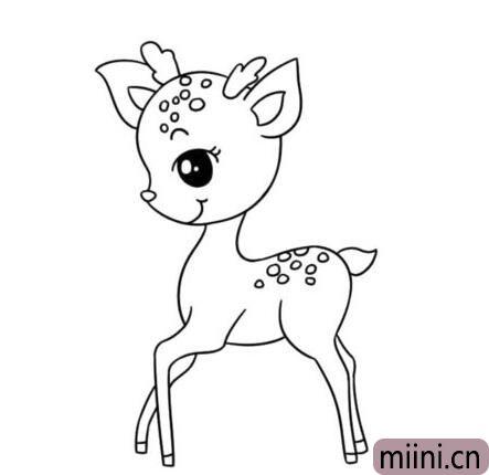 梅花鹿简笔<a href=http://www.miini.cn/hhds/ target=_blank class=infotextkey>画</a>01.jpg