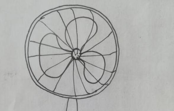 赶走酷热的电风扇简笔画步骤教程