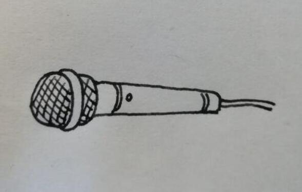 明星唱歌的时候拿着的话筒麦克风简笔画步骤教程