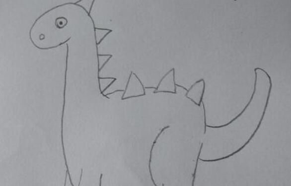 远古生物恐龙简笔画步骤教程