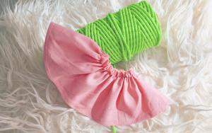 如何给裙子抽碎褶?让服装造型更具立体感,手工抽褶一分钟学会