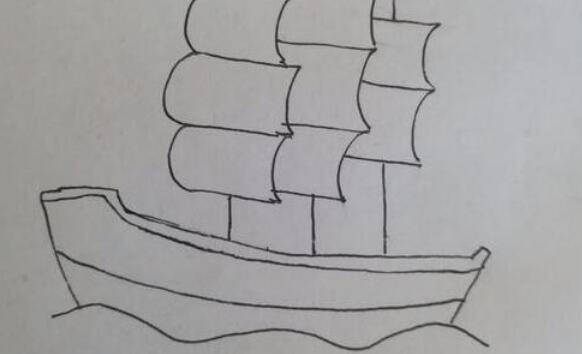 风一吹就能远航的帆船简笔画步骤教程