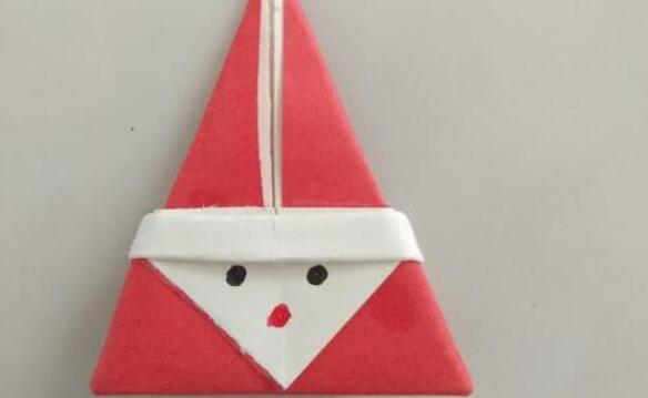 喜欢送小朋友礼物的圣诞老人折纸步骤教程