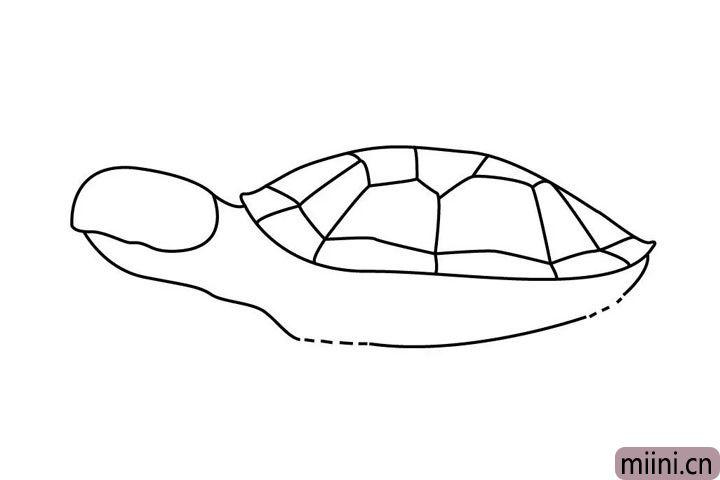 4.再画海龟的头,这么一看有些像手指呢...