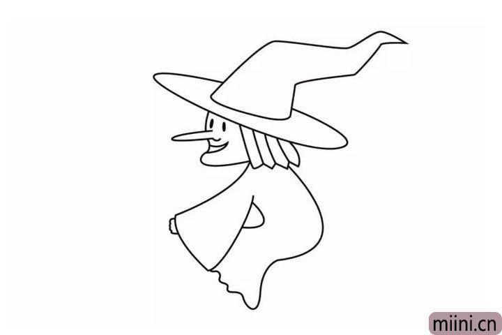 8.把衣服补充完整,注意女巫的姿势哦