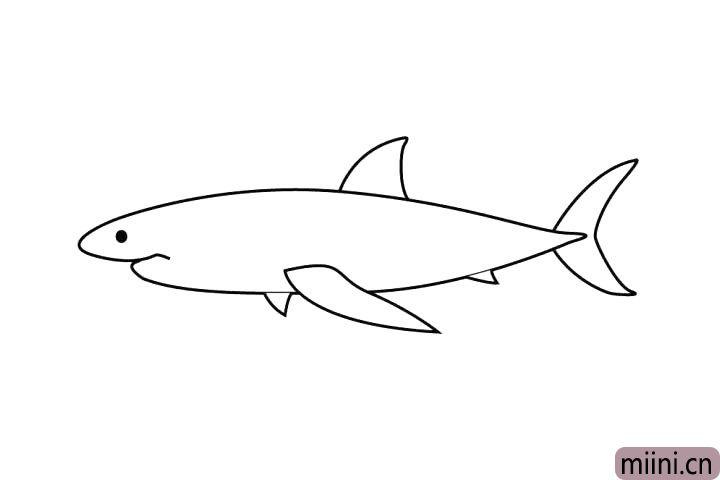 6.吼吼,来画黑溜溜的鱼眼睛!