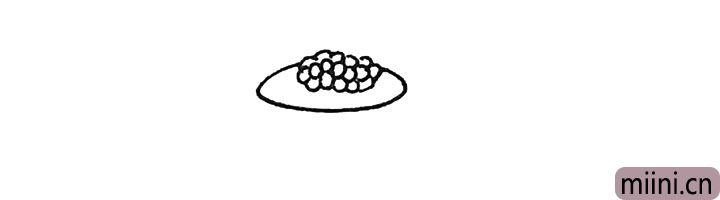 第二步:然后绕着它们画上一个椭圆形。