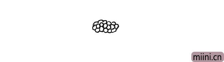 第一步:画上一堆的小圆圈。