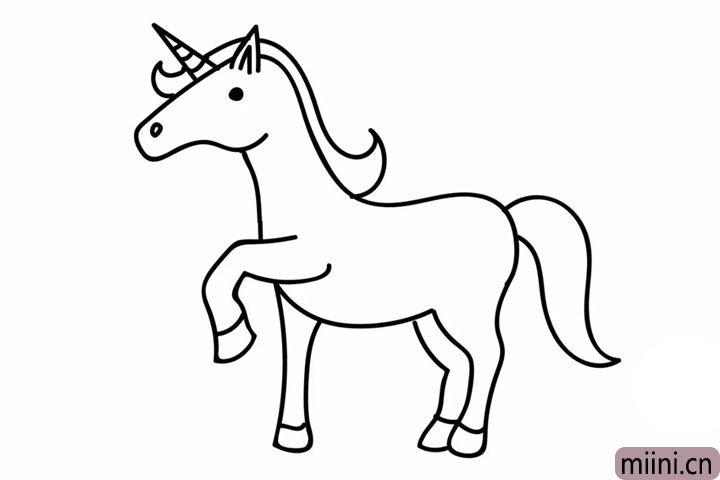 6.补画独角兽的另外两条腿。