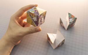 给自己的小孩子做一个纸折的智力玩具