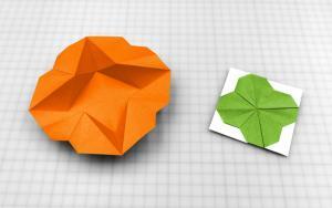 折纸星形盒子和四叶草信封