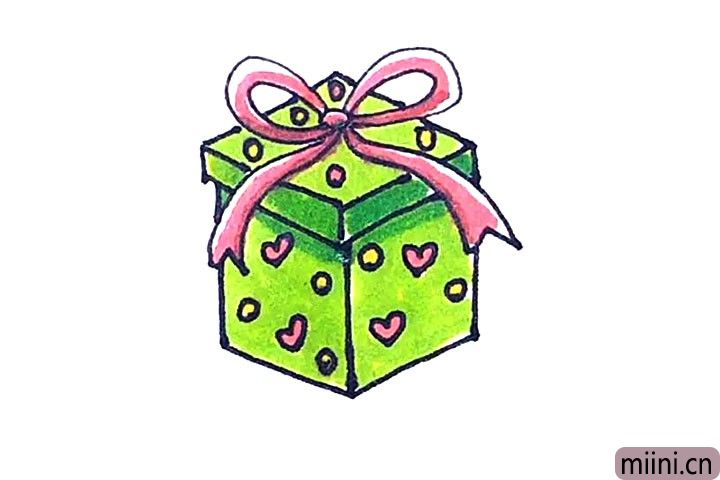 小朋友最喜欢的圣诞礼物简笔画步骤教程