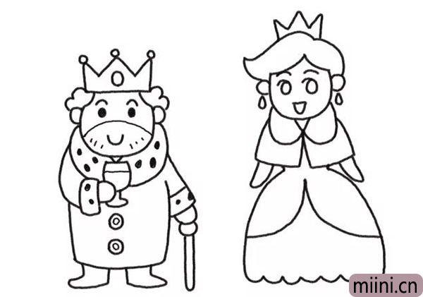 5.接下来是画王后的裙子。