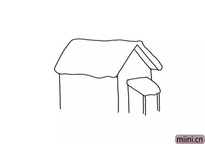 2.再画出房屋的墙体。