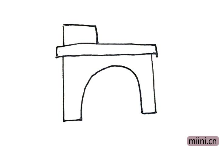 3.中间,再用折线画出栅栏的感觉。