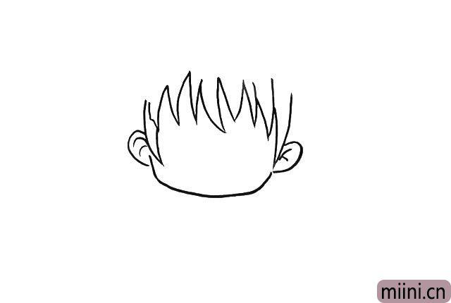 2.接下来刘海和耳朵。