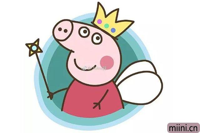 小仙女小猪佩奇简笔画步骤教程