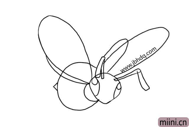 5.给它画上大大的翅膀。