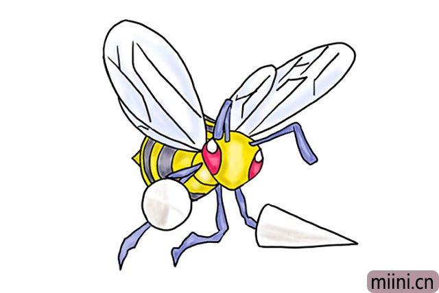 口袋妖怪中的大针蜂简笔画步骤教程