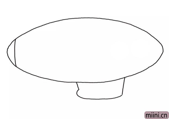 2.画出飞艇的吊舱轮廓线条。