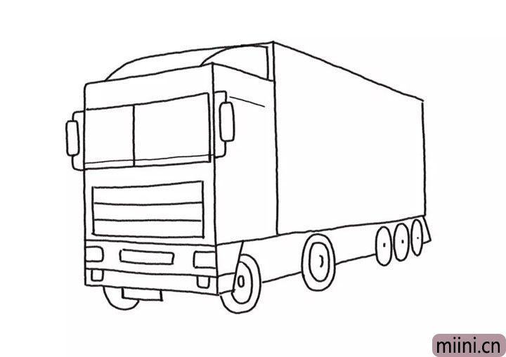 5.完善车头以及轮胎的细节。