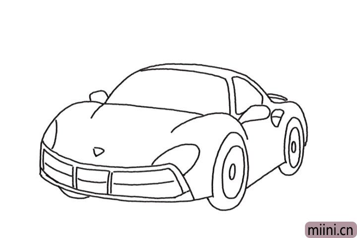 5.完善车轮的细节部分。