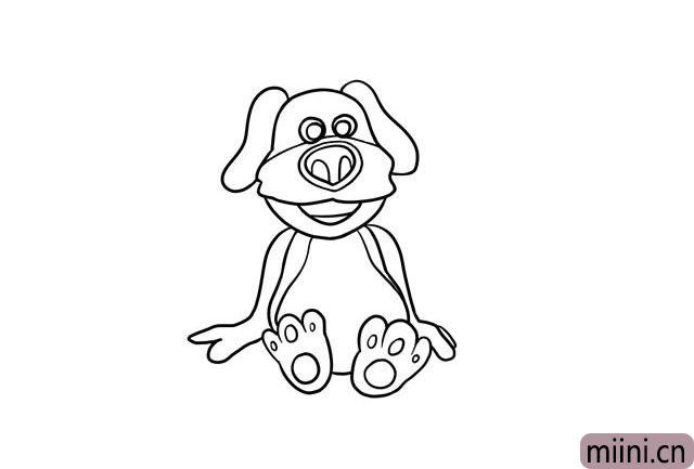 7.然后是狗狗的身体和脚。