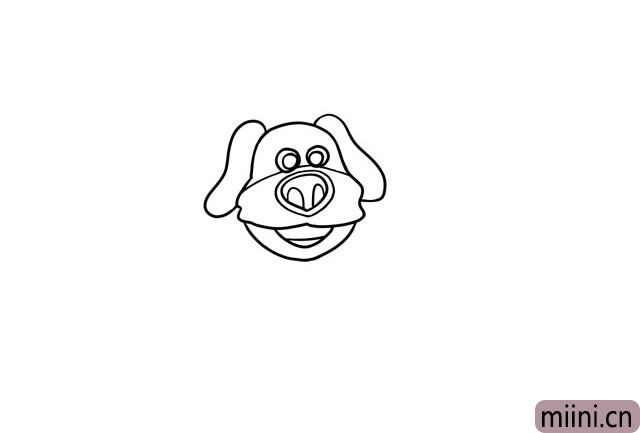 5.画出狗狗的胡子分割线。