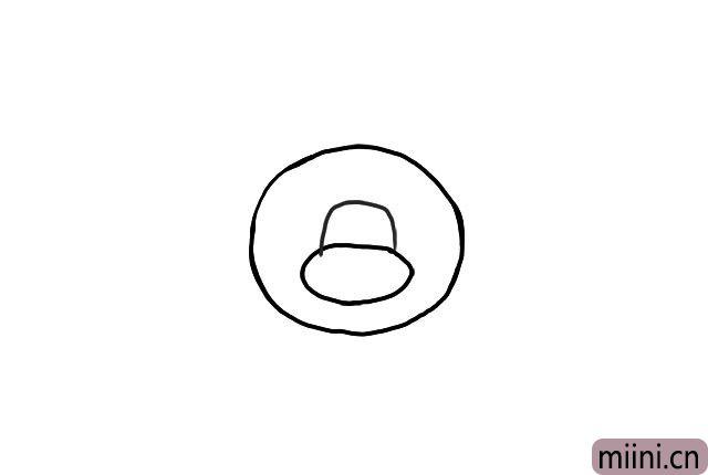 2.画出它的头部轮廓。