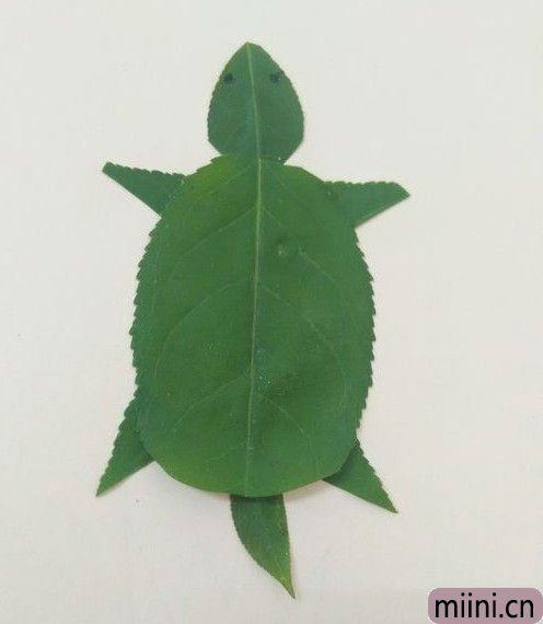树叶做乌龟01.JPG