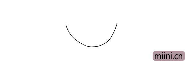 第一步.首先画出果盘的盘底.呈椭圆型。