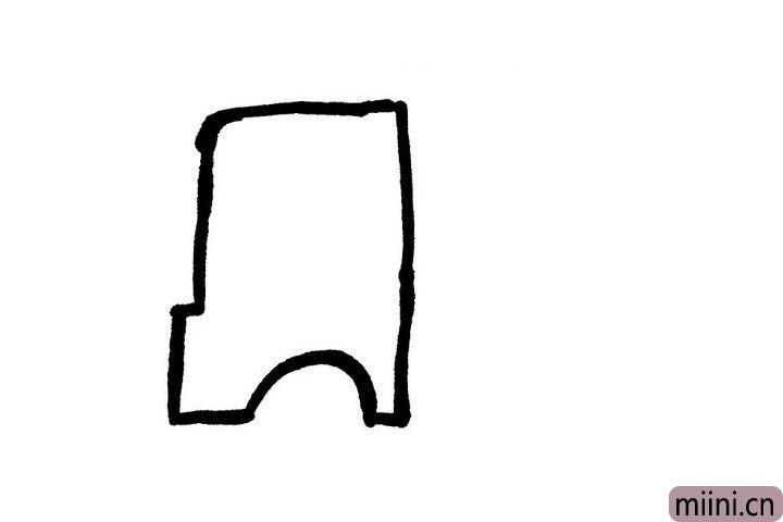 1.开着小货车在路上疾驰是不是男孩子梦寐以求的事情呢?小可爱们快拿出小画笔画出小货车的司机室吧!一定要留出车轮的位置哦!