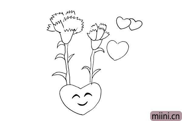 第九步:大爱心上面我们给它加上一个开心的表情。