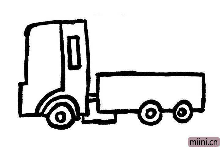 6.小货车的车窗也要画上哦!车窗不仅可以用来及时查看车窗外的情况,还可以使驾驶室内空气流通哦!