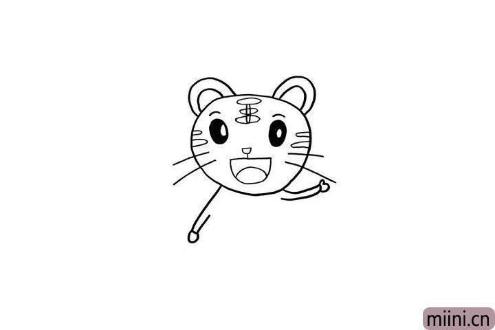 6.巧虎可爱的小胳膊用一个长方形表示,小手就用椭圆表示一下就好了哦!是不是很简单呢?