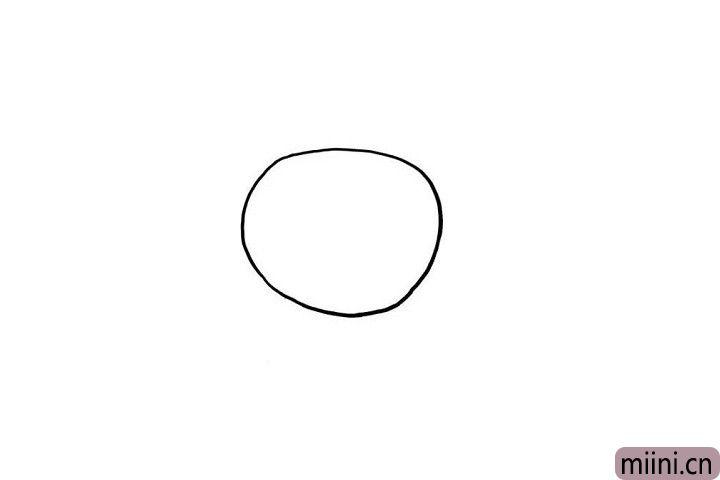 1.小朋友们是不是对简单粗暴的开场还记忆尤新呢?我们在画板上画出一个空心的圆形,这就是巧虎的小脑袋轮廓哦!是不是足够的简单粗暴呢?