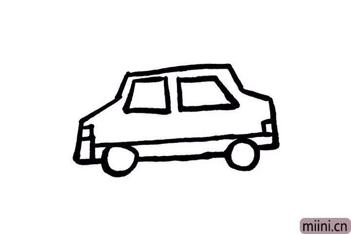 7.我们再给出租车画上尾灯吧!这样也可以提示后方车辆前方有车,注意保持安全距离哦~