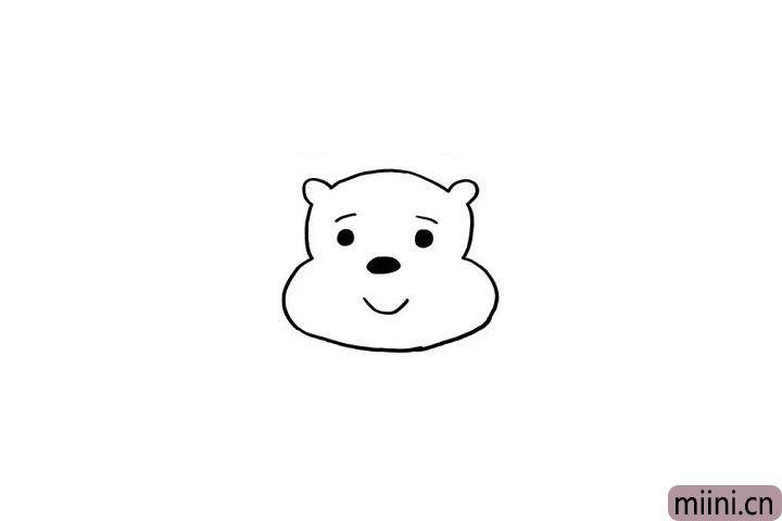 2.精致小巧的鼻子、圆圆的小眼睛让维尼看起来更多了一点可爱哦!小朋友们是不是这样觉得呢?