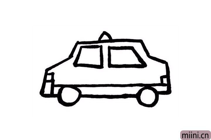 """8.出租车上边都有一个标志写着""""taxi """",小可爱们咱们一起画出来吧!"""