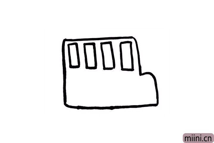 """2.有之前画""""出租车""""的基础,现在画起来校车的小车窗是不是So easy呢?"""