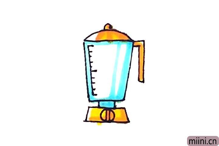 可以做出美味的果汁的简笔画步骤教程