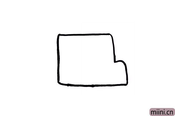1.小小画笔手中拿,一起画画校车的外部轮廓吧!是不是很简单呢?