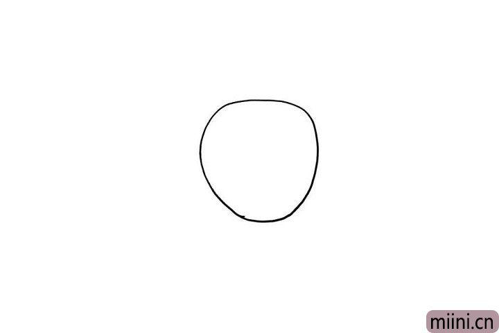 1.小朋友们知道活泼的图图小脑袋怎么画吗?很简单哦,在画板上画出一个圆圈就好啦!