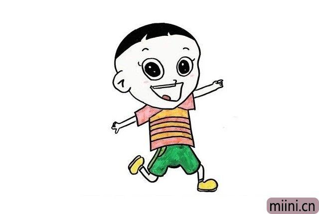7.小朋友们喜欢大头儿子穿什么颜色的衣服呢?拿出自己的小画笔,快来给大头儿子穿上好看的衣服吧!