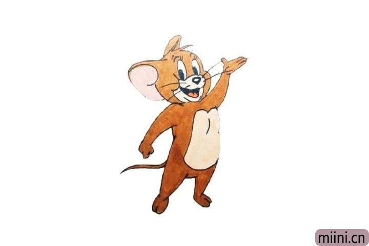 猫和老鼠中的小老鼠杰瑞简笔画步骤教程