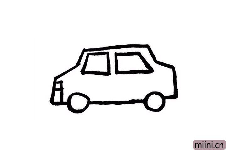 5.小朋友们有没有观察过出租车的车头呢?我们在出租车的车头位置表示一下车灯的位置吧!