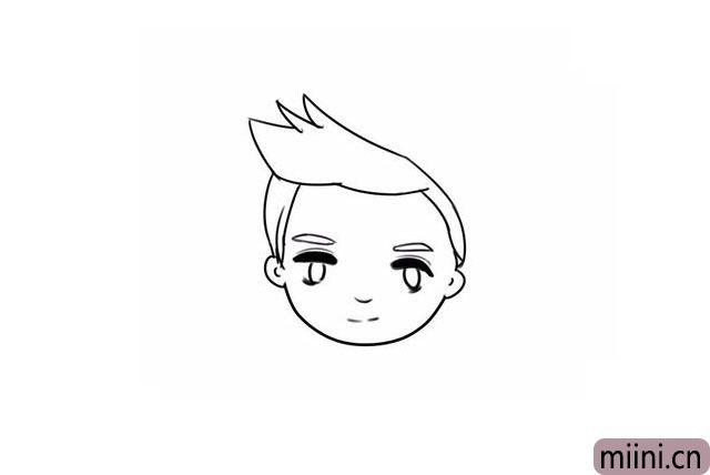 8.把头发完成。